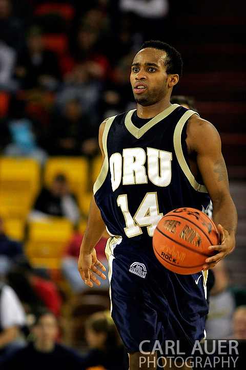 25 November 2005: ORU senior, Jonathan Bluitt in the 70-73 loss to Marquette University at the Great Alaska Shootout in Anchorage, Alaska