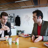 Nederland, Amsterdam , 15 februari 2010..Amsterdamse Lijsttrekker PvdA Lodewijk Asscher in debat met SP lijsttrekker Laurens Ivens..Foto:Jean-Pierre Jans