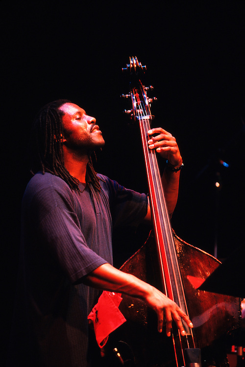 Reginald Veal on bass playing with the Wynton Marsalis Septet at the Montreal International Jazz Festival, Montreal, Quebec, Canada