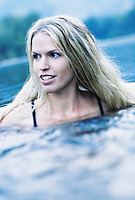 Young woman swimming in river&#xA;<br />
