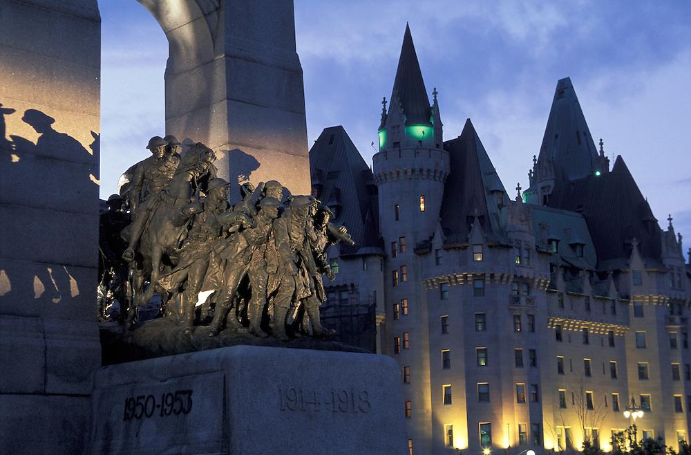 War Memorial, Fairmont Chateau Laurier, Ottawa, Ontario, Canada