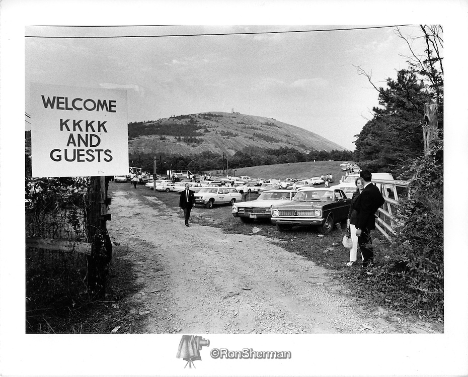 KKK Rally 1971 Stone Mountain GA near Atlanta.