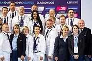Judges<br /> Edinburgh 11/08/18 <br /> Diving Royal Commonwealth Pool <br /> LEN European Aquatics Championships 2018 <br /> European Championships 2018 <br /> Photo Giorgio Perottino / Deepbluemedia /Insidefoto