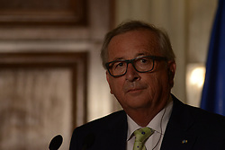 April 26, 2018 - Athens, Attiki, Greece - President of the European Commission, Jean-Claude Juncker, during the press conference in Maximou Mansion. (Credit Image: © Dimitrios Karvountzis/Pacific Press via ZUMA Wire)