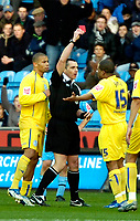 Photo: Ed Godden.<br />Coventry City v Sheffield Wednesday. Coca Cola Championship. 18/11/2006. Wednesday's Wade Small is sent off.