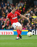 Picture by David Horn/Focus Images Ltd +44 7545 970036<br /> 14/09/2013<br /> Yann Kermorgant of Charlton Athletic scores the opening goal form the penalty spot during the Sky Bet Championship match at Vicarage Road, Watford.