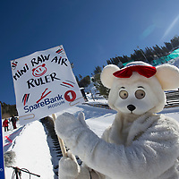 Raw Air photo from Vikersund Ski Flying Hill. Raw Air is a ten day ski jumping and ski flying tournament and is part of the World Cup competition. <br /> Raw Air 2018 was held in March 2018 in Norway at four different ski jumping hills - Oslo, Lillehammer, Trondheim and Vikersund. <br /> Vikersund Hill is a ski flying hill, in Modum, Norway is the largest in the world. Nine world records have been set on this hill, with the current one at 253.5meters set by Stefan Kraft (Austria) on the 18th March 2017.