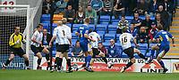 Photo: Steve Bond.<br />Shrewsbury Town v Chesterfield. Coca Cola League 2. 13/10/2007. dave Hibbert (R, no9) fires Shrewsbury in front