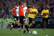 Photo: Gerrit de Heus. Rotterdam. UEFA Cup Final. Feyenoord-Borussia Dortmund. Shinji Ono.