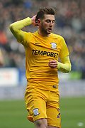 Preston North End Forward, Tom Barkhuizen (29) during the EFL Sky Bet Championship match between Bolton Wanderers and Preston North End at the Macron Stadium, Bolton, England on 3 March 2018. Picture by Mark Pollitt.