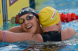 Mary Descenza of USA and Winner Jessicah Schipper of Australia during the Women's 200m Butterfly Final during the 13th FINA World Championships Roma 2009, on July 30, 2009, at the Stadio del Nuoto,  in Foro Italico, Rome, Italy. (Photo by Vid Ponikvar / Sportida)