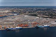 Bahri Vessel Aerial Photography at Dundalk Marine Terminal