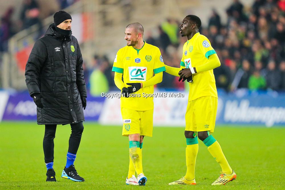 Remy RIOU / Vincent BESSAT / Remi GOMIS  - 20.01.2015 - Nantes / Lyon  - Coupe de France 2014/2015<br /> Photo : Vincent Michel / Icon Sport