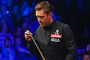 Ricky Walden chalking his cue during the Snooker Players Championship Final at EventCity, Manchester, United Kingdom on 27 March 2016. Photo by Pete Burns.