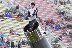 June 10, 2018 - Brooklyn, Michigan, U.S - DAVID SMITH JR. prepares to be shot out of a canon at Michigan International Speedway. (Credit Image: © Scott Mapes via ZUMA Wire)