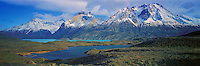 The Paine Massif and Lake Nordenskjold , Torres del Paine National Park , Chile