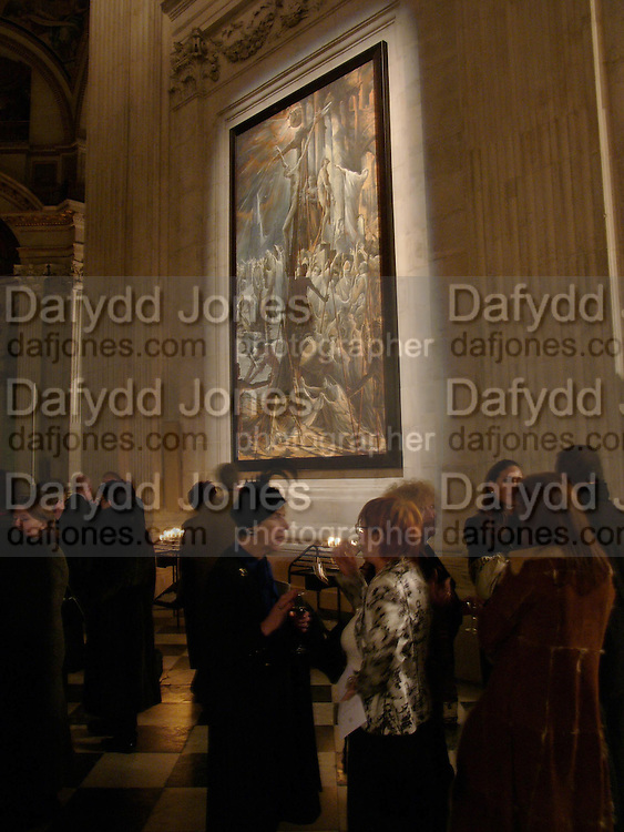 Elizabeth Walton and Princess  Valentina Polukhina. Sergei Chepik: St Paul's Cathedral - opening<br />