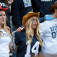 Penn State fans sing the alma mater prior to the Nittany Lions game against the Illinois Fighting Illini on November 2, 2013 at Beaver Stadium in University Park, Pennsylvania. The touchdown was called back due to a holding penalty.