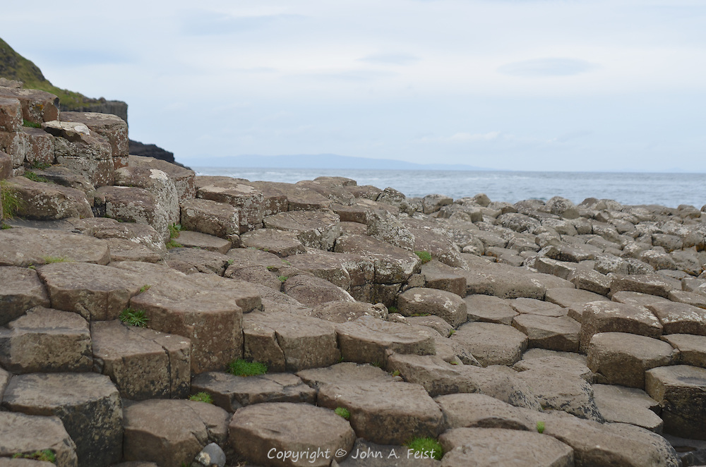 Looking out to sea from the Giant's Causeway, County Antrim, Northern Ireland