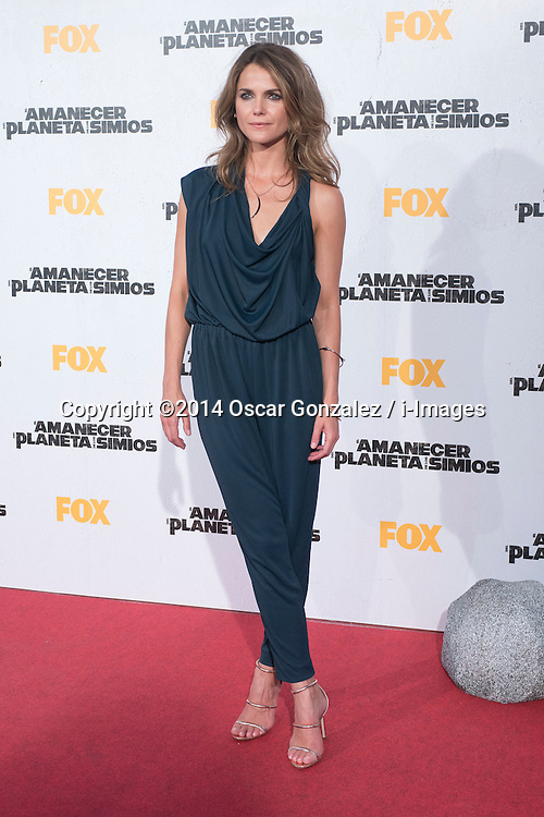 Image ©Licensed to i-Images Picture Agency. 16/07/2014. Madrid, Spain. Actress Keri Russell attends the 'Dawn Of The Planets Of The Apes' premiere at Capitol Cinema. Picture by Oscar Gonzalez / i-Images<br /> SPAIN OUT