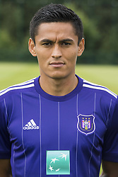 July 11, 2017 - Brussels, BELGIUM - Anderlecht's Andy Najar poses for photographer at the 2017-2018 season photo shoot of Belgian first league soccer team RSC Anderlecht, Tuesday 11 July 2017 in Brussels. BELGA PHOTO LAURIE DIEFFEMBACQ (Credit Image: © Laurie Dieffembacq/Belga via ZUMA Press)
