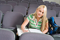 Student Sitting in Lecture Hall