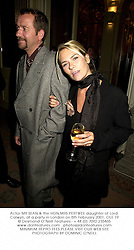 Actor MR SEAN & the HON.MRS PERTWEE daughter of Lord Colwyn, at a party in London on 8th February 2001.OLE 19