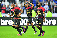 FOOTBALL : Lyon vs Guingamp - Ligue 1 - 22/10/2016<br /> <br /> 24 MARCUS COCO (eag) - 15 JEREMY SORBON (eag) - JOIE<br /> Norway only