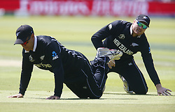 June 29, 2019 - London, United Kingdom - L-R Ross Taylor of New Zealand and Martin Guptill of New Zealand.during ICC Cricket World Cup between New Zealand and Australia at the Lord's Ground on 29 June 2019 in London, England. (Credit Image: © Action Foto Sport/NurPhoto via ZUMA Press)