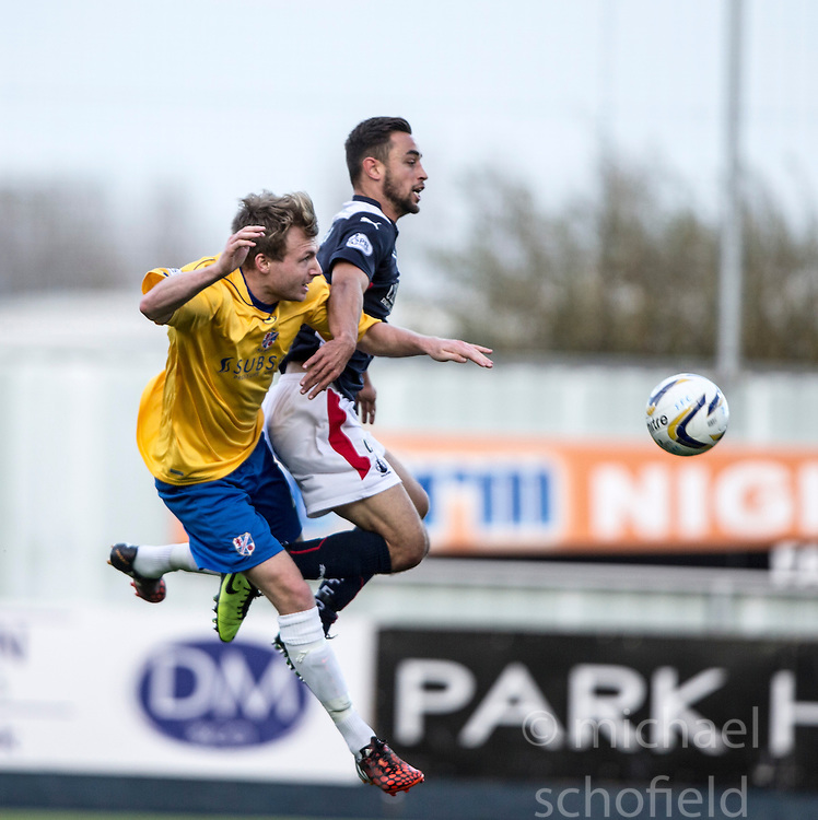 Falkirk's Tom Taiwo.<br /> Falkirk 6 v 0 Cowdenbeath, Scottish Championship game played at The Falkirk Stadium, 25/10/2014.