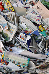 Newspapers at Ollerton recycling plant,