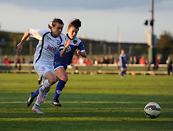 Karen Carney of Birmingham City Ladies and Angharad James of Bristol Academy Women chase the ball - Mandatory by-line: Paul Knight/JMP - Mobile: 07966 386802 - 05/09/2015 -  FOOTBALL - Stoke Gifford Stadium - Bristol, England -  Bristol Academy Women v Birmingham City Ladies FC - FA Women's Super League