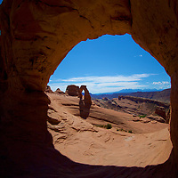 The impossible smooth and out of this world look & feel to Delicate Arch, Arches National Park, Utah.