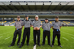 BAFA Referees prepare for todays U19 Britbowl - Mandatory by-line: Jason Brown/JMP - 27/08/2016 - AMERICAN FOOTBALL - Sixways Stadium - Worcester, England - Kent Exiles v East Kilbride Pirates - BAFA Britbowl Finals Day