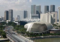 FORMEL 1: GP von Singapur, 28.09.2009 <br /> Rennstrecke, Stadtansicht, Illustration<br /> © pixathlon