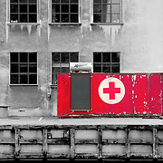 First aid box, Copenhagen, Denmark (December 2004)