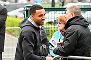 Callum Wilson (13) of AFC Bournemouth arriving at the Vitality Stadium before the Premier League match between Bournemouth and Arsenal at the Vitality Stadium, Bournemouth, England on 14 January 2018. Photo by Graham Hunt.