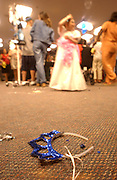 A crown is left on the floor at the Pediatrics Prom at Memorial Sloan-Kettering Cancer Center in Manhattan, NY. 6/7/2005 Photo by Jennifer S. Altman