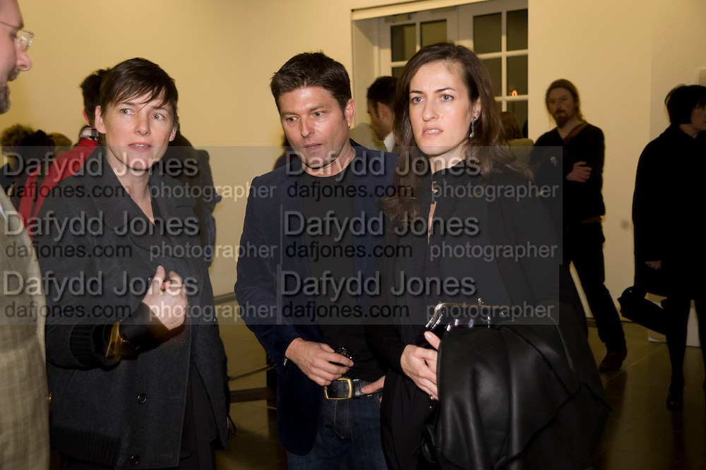 SADIE COLES; KENNY GOSS; APHRODITE GONOU, Rebecca Warren exhibition opening at the Serpentine Gallery. London.  9 March  2009 *** Local Caption *** -DO NOT ARCHIVE -Copyright Photograph by Dafydd Jones. 248 Clapham Rd. London SW9 0PZ. Tel 0207 820 0771. www.dafjones.com<br /> SADIE COLES; KENNY GOSS; APHRODITE GONOU, Rebecca Warren exhibition opening at the Serpentine Gallery. London.  9 March  2009