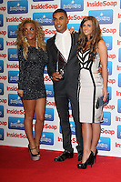 Chelsee Healey; Lucien Laviscount; Rebecca Ryan Inside Soap Awards 2011, Gilgamesh, The Stables Market, Camden Town, London, UK. 26 September 2011 Contact: Rich@Piqtured.com +44(0)7941 079620 (Picture by Richard Goldschmidt)