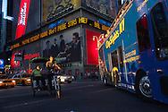 New York , Times square,   sunset on 42nd street , United states  Manhattan