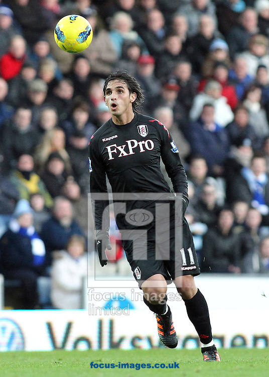 Picture by MIchael Sedgwick/Focus Images Ltd. 07900 363072.14/01/12.Bryan Ruiz of Fulham in action against Blackburn Rovers during the Barclays Premier League match at the Ewood Park stadium, Blackburn, Lancashire.