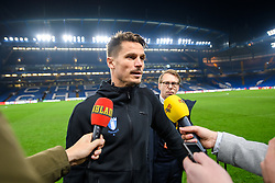 February 21, 2019 - London, Great Britain - 190221 Markus Rosenberg of MalmÅ¡ FF in the mixed zone after the Europa league match between Chelsea and MalmÅ¡ FF on February 21, 2019 in London..Photo: Petter Arvidson / BILDBYRN / kod PA / 92228 (Credit Image: © Petter Arvidson/Bildbyran via ZUMA Press)