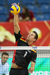 06.09.2014, Krakow Arena, Krakau, POL, FIVT WM, Belgien vs Iran, Gruppe D, im Bild Bram Van Den Dries (BEL) // during the FIVB Volleyball Men's World Championships Pool D Match beween Belgium and Iran at the Krakow Arena in Krakau, Poland on 2014/09/06. EXPA Pictures © 2014, <br />