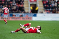 January 26, 2019 - Rotherham, England, United Kingdom - Jon Taylor of Rotherham United goes down injured during the Sky Bet Championship match between Rotherham United and Leeds United at the New York Stadium, Rotherham, England, UK, on Saturday 26th January 2019. (Credit Image: © Mark Fletcher/NurPhoto via ZUMA Press)