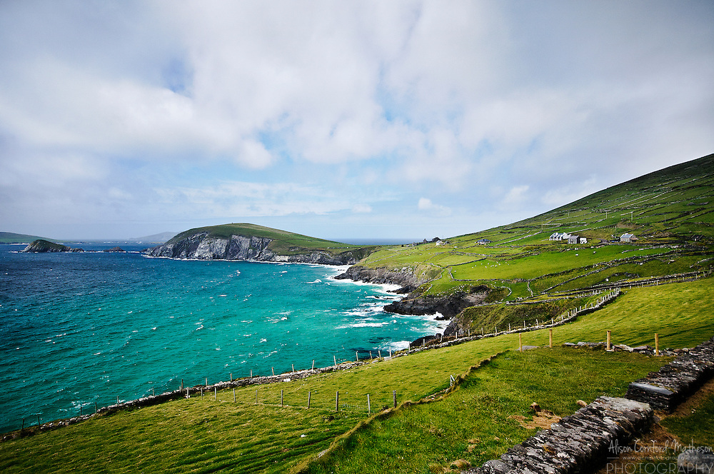 The Dingle Peninsula in county Kerry, is a popular drive for tourists, in Ireland.
