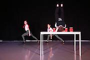 Mannheim. 10.02.17 | BILD- ID 076 |<br /> Dance Professional Mannheim zeigt eine Jahres-Show, in der sich junge Tanztalente präsentieren, die sich momentan auf eine Tanzausbildung vorbereiten.<br /> - Alisa Behnke, Marta Lufinha, Andre Meyer<br /> Bild: Markus Prosswitz 10FEB17 / masterpress (Bild ist honorarpflichtig - No Model Release!)