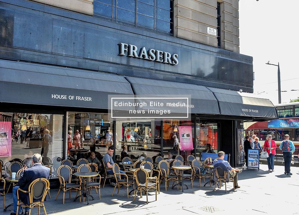 House of Fraser announces closure of dozens of stores, including the flagship Edinburgh West End store.<br /> <br /> © Dave Johnston / EEm