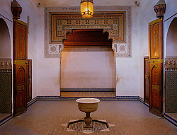 A room inside the Bahia Palace in Marrakech, Morocco, North Africa<br /> <br /> <br /> <br /> (c) Andrew Wilson | Edinburgh Elite media