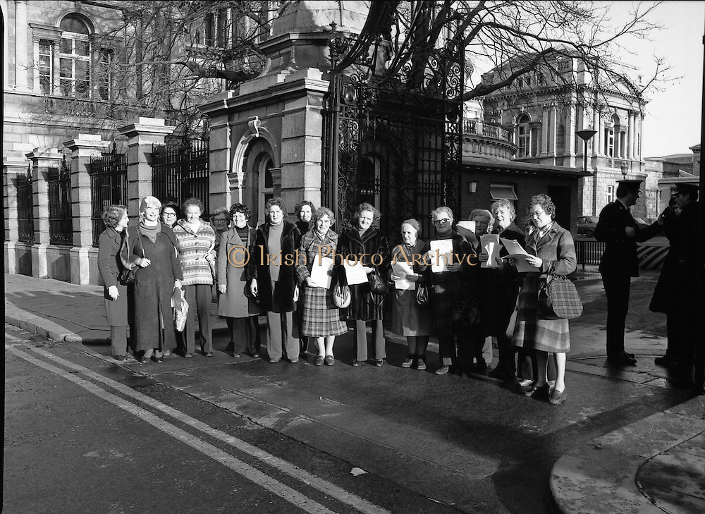 12/12/1978.12/12/1978.12th December 1978.National Association of Widows Protest outside Dail Eireann, Kildare Street.